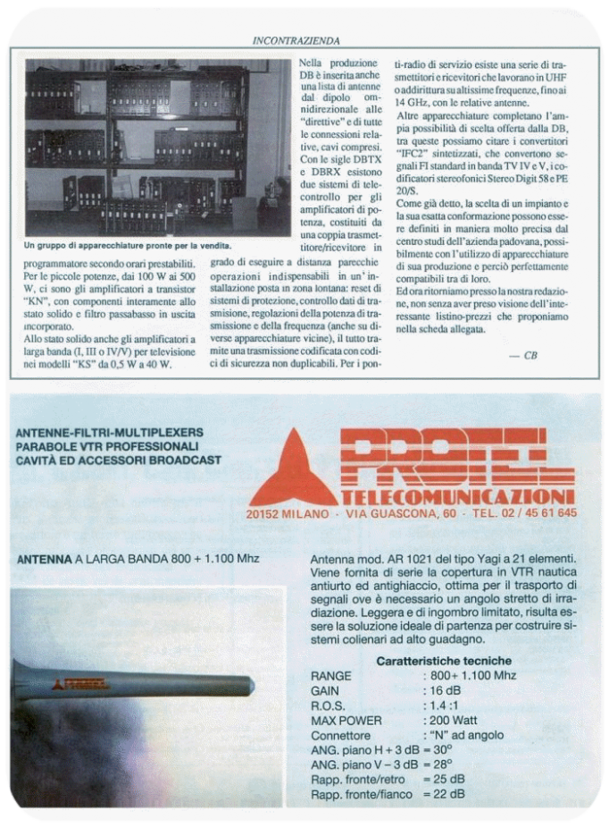 Press - Protel Antennas - Monitor year 12-1989