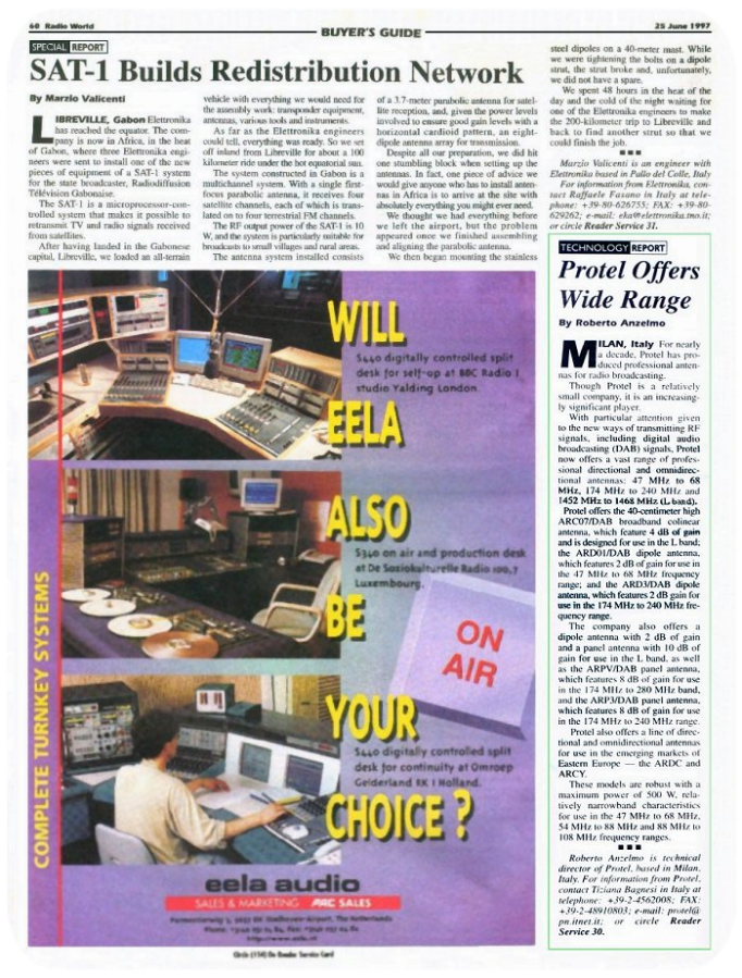 Protel Press Radio World Magazine  06-1997